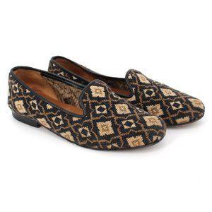 Stubbs & Wootton Needlepoint Geometric Loafers 6